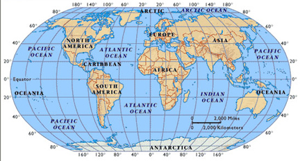 Gps navigation using latitude longitude and utm coordinates latitudes and longitudes of the continents and oceans before traveling across an ocean you may want to memorize a few pairs of coordinates between where sciox Choice Image