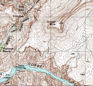 Topographic Map Grand Canyon.Wilderness Navigation Topographical Maps And Altimeters