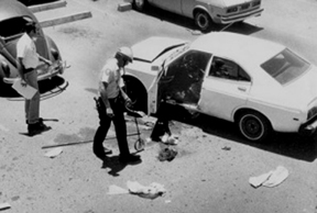 Site of the bombing of Don Bolles' car in 1976
